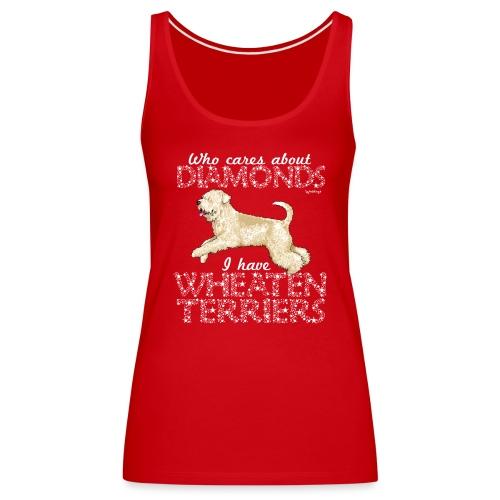 Wheaten Terrier Diamonds - Women's Premium Tank Top