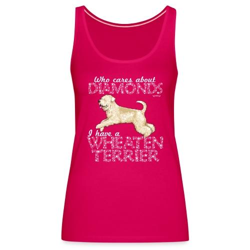 Wheaten Terrier Diamonds 4 - Women's Premium Tank Top