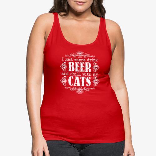 Beer Cats W - Naisten premium hihaton toppi