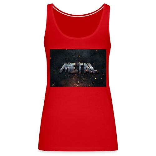 PixelMustache Metal Text Style1 - Women's Premium Tank Top