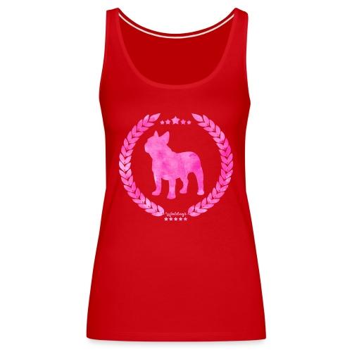 French Bulldog Army Pink - Women's Premium Tank Top