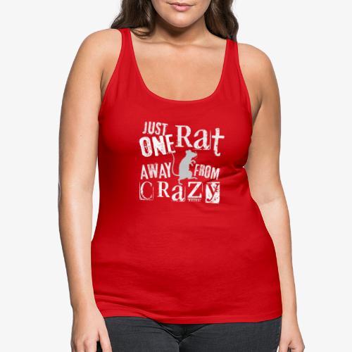 One Rat Crazy W - Naisten premium hihaton toppi