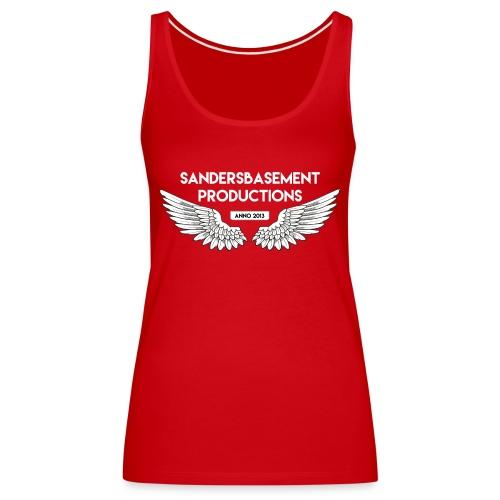 T SHIRT logo wit png png - Vrouwen Premium tank top