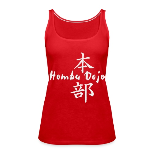 HombuDojo logo wt trans hr - Women's Premium Tank Top
