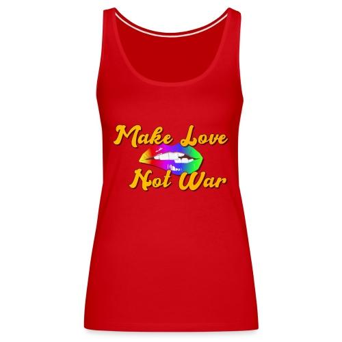 60s Make love not War - Vrouwen Premium tank top