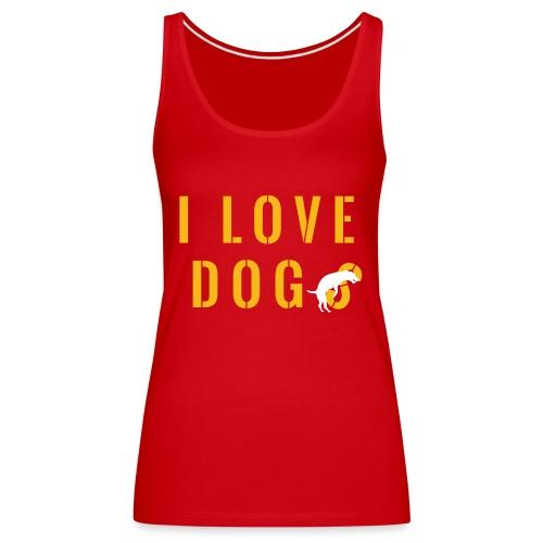 I love dogs2 - Canotta premium da donna