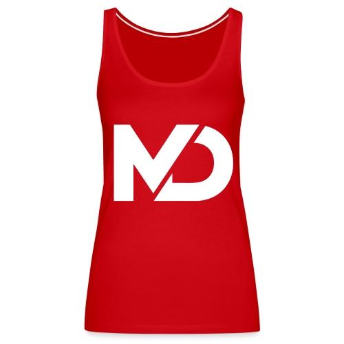 logo_wit - Vrouwen Premium tank top