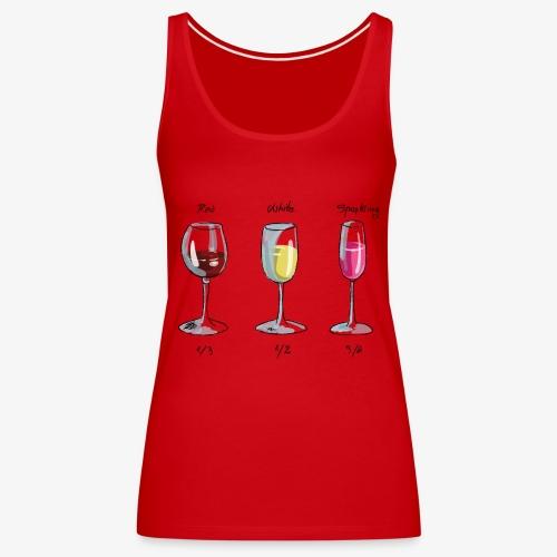 bichieri con vino - Canotta premium da donna