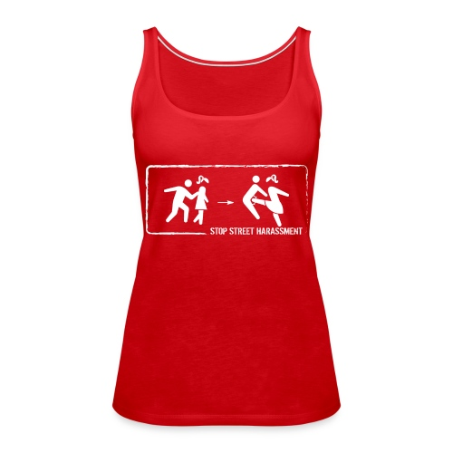 Stop street harassment: We don't touch! - Women's Premium Tank Top