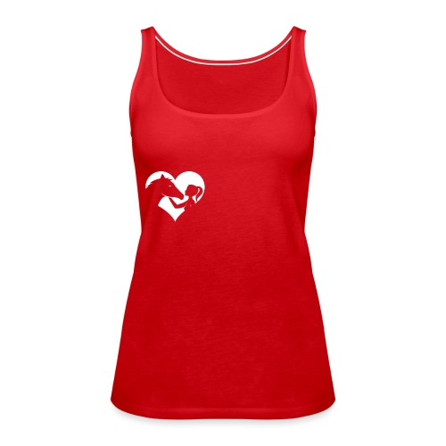 Horse Girlie Heart green - Frauen Premium Tank Top