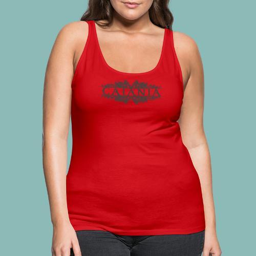 Caiania-logo harmaa - Naisten premium hihaton toppi