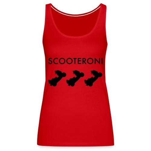 T-SHIRT SCOOTERONI BLACK - Canotta premium da donna