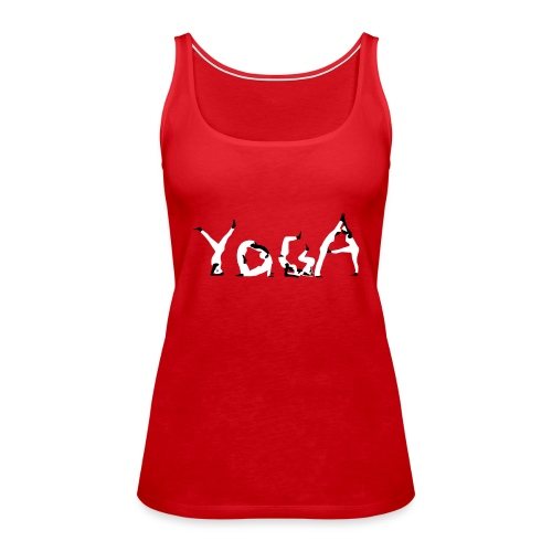 Yoga white - Frauen Premium Tank Top