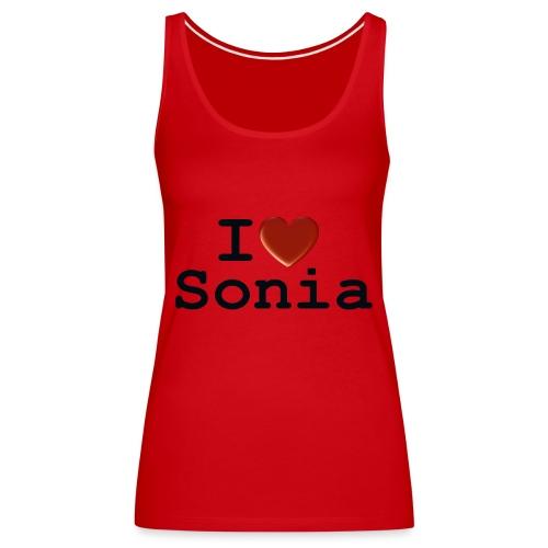 i love sonia - Tank top damski Premium