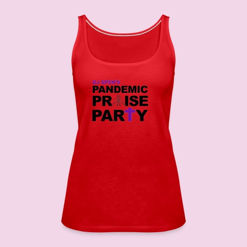 Pandemic Praise Party Logo - Women's Premium Tank Top