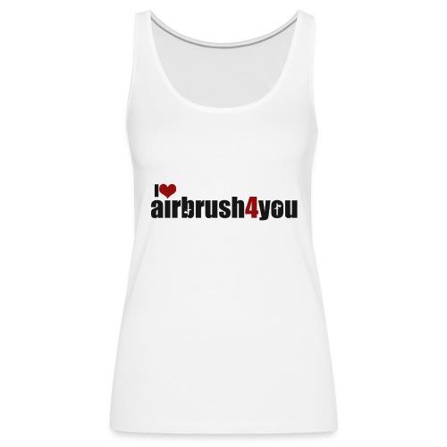 I Love airbrush4you - Frauen Premium Tank Top