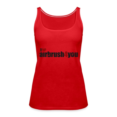 I Love airbrush4you - Frauen Premium Tank Top