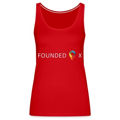FoundedX logo white png - Women's Premium Tank Top