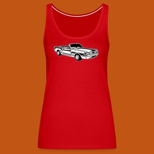 Cabrio / Muscle Car 02_schwarz weiß - Frauen Premium Tank Top