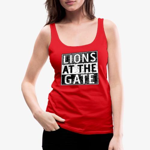 LIONS AT THE GATE BAND LOGO - Vrouwen Premium tank top