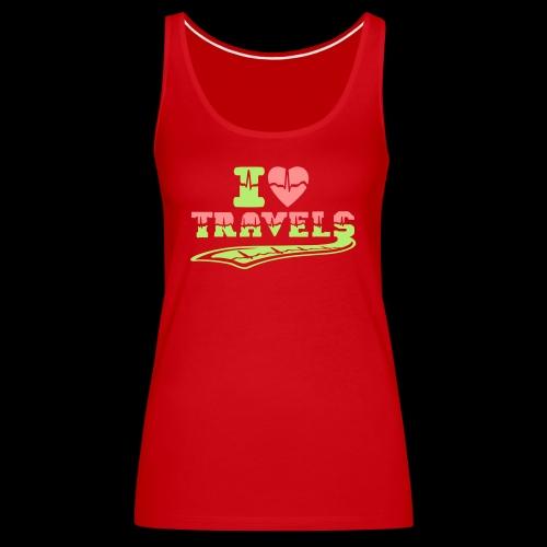i love travels surprises 2 col - Women's Premium Tank Top