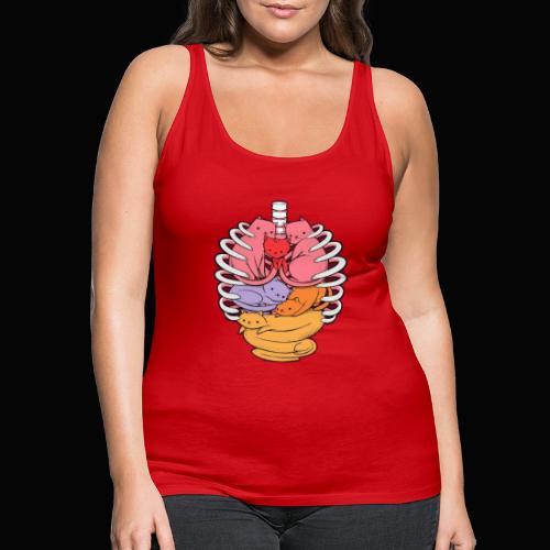 El cuerpo humano por dentro - Camiseta de tirantes premium mujer