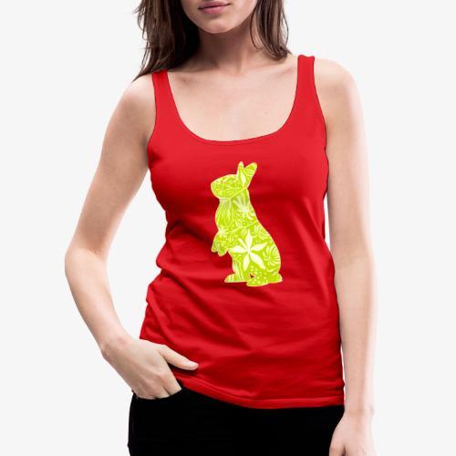 Flower Bunny Lime - Naisten premium hihaton toppi