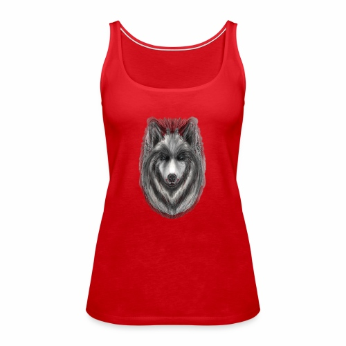 Foxy Wolf by Jon Ball - Women's Premium Tank Top