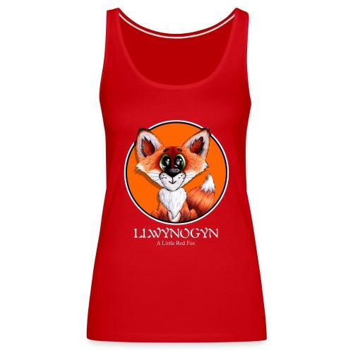 llwynogyn - a little red fox (white) - Naisten premium hihaton toppi