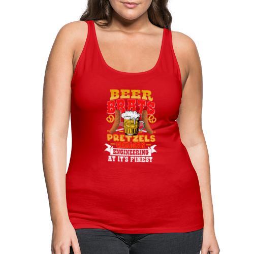 Bier, Bratwurst, deutsches... - Frauen Premium Tank Top