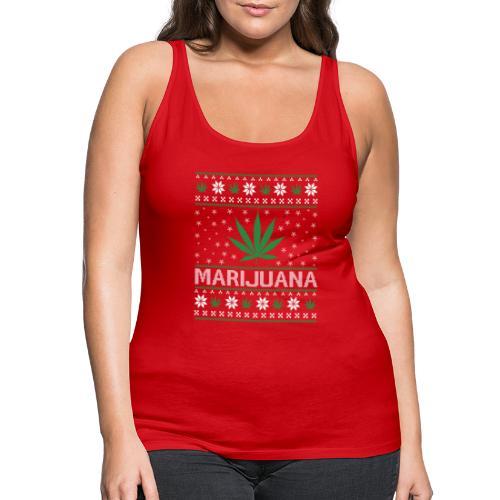 Ugly Christmas Marijuana - Frauen Premium Tank Top