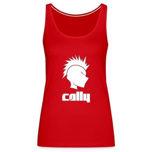 Cally Mohawk & Text Logo - Women's Premium Tank Top