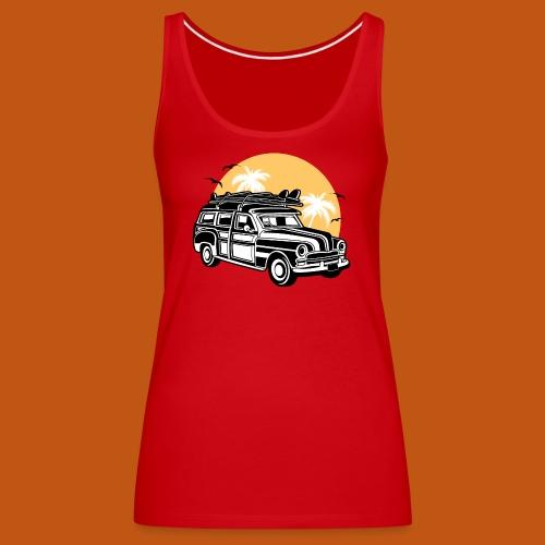 Chevy Cadilac Woodie / Oldtimer Kombi 01_3c - Frauen Premium Tank Top