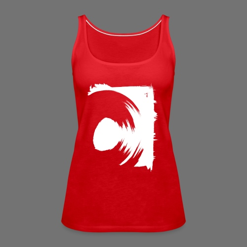 spin (white) - Women's Premium Tank Top