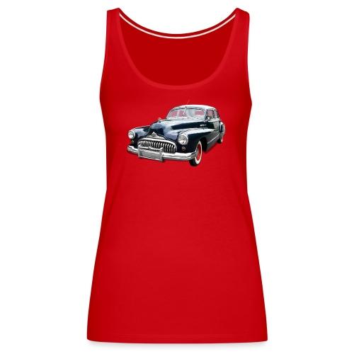 Classic Car. Buick zwart. - Vrouwen Premium tank top