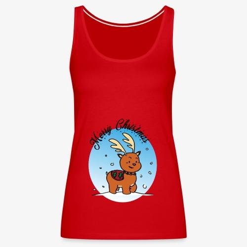 A little reindeer - Merry Christmas - Women's Premium Tank Top