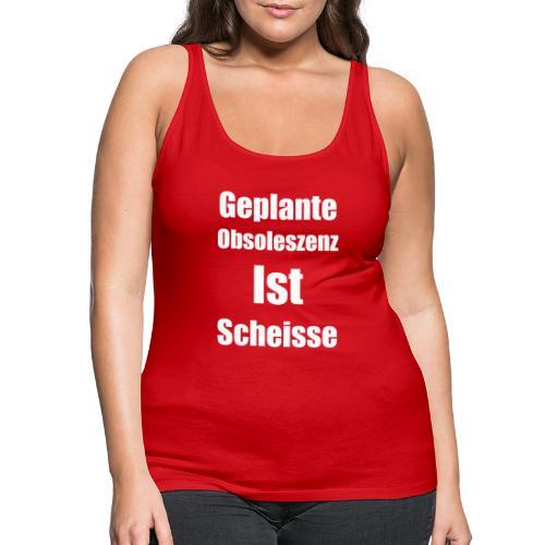 Obsoleszenz Weiss Schwarz - Frauen Premium Tank Top