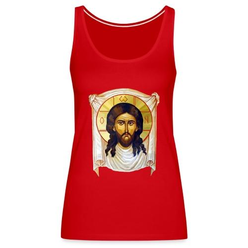 Low-Poly Jesus Icon - Women's Premium Tank Top