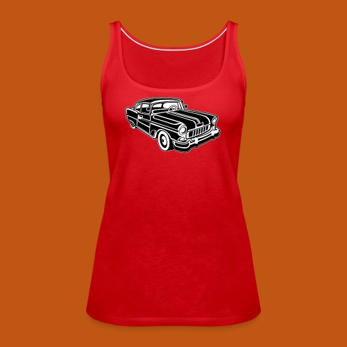 Chevy Cadilac / Muscle Car 02_schwarz weiß - Frauen Premium Tank Top