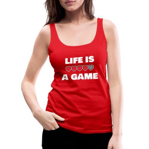 life is a game, White - Premiumtanktopp dam