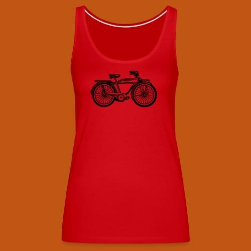 Beach Cruiser Fahrrad 01_schwarz - Frauen Premium Tank Top