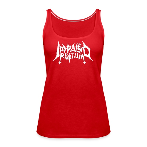 Impaled Rektum -logo shirt - Naisten premium hihaton toppi