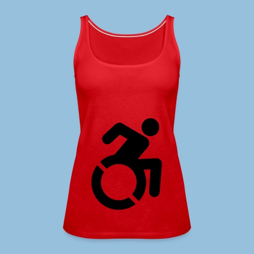 New WheelChair Logo 001 - Vrouwen Premium tank top