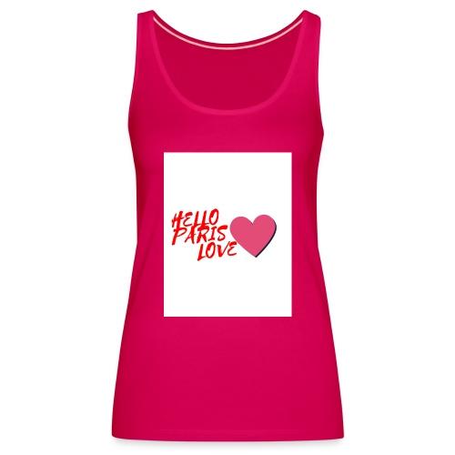 hello paris love rouge - Débardeur Premium Femme