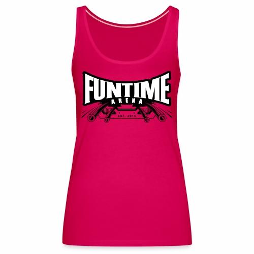 FunTime Logo Weißer text - Frauen Premium Tank Top