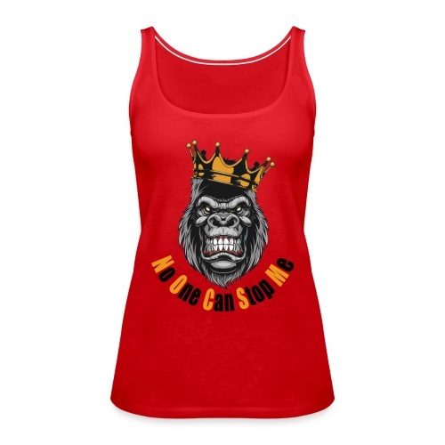 gym t-shirt (no one can stop me) - Frauen Premium Tank Top