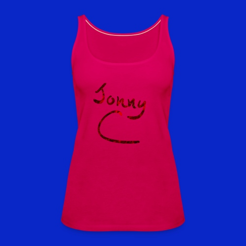 Jonny C Red Handwriting - Women's Premium Tank Top