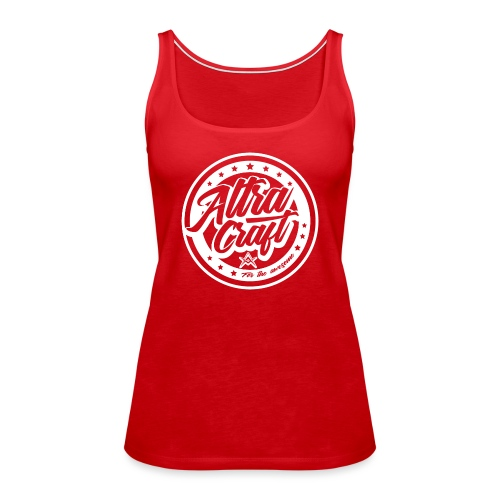 AltraCraft - For the awesome (White Logo) - Women's Premium Tank Top