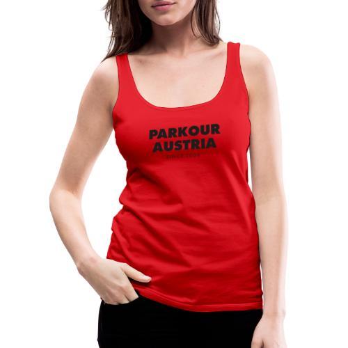 Parkour Austria (schwarzer Schriftzug) - Frauen Premium Tank Top
