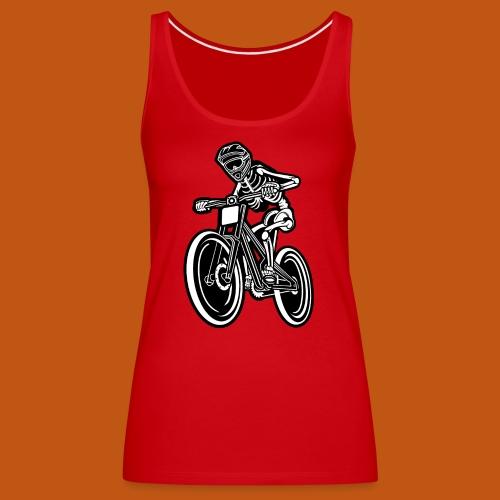 BMX / Mountain Biker 04_schwarz weiß - Frauen Premium Tank Top